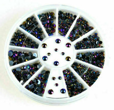 300Pcs 3D Rhinestones Glitter Diamond Gems Tips DIY Nail Art Decoration ... - $12.55