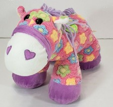 DAN DEE Flower Horse Plush Toy Pink with Colorful Flowers - $14.99
