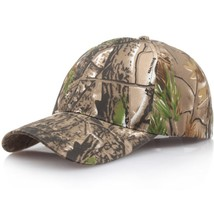 Outdoor Baseball Caps Sunscreen Quick-Drying Cap Jungle Leaves Camouflag... - $9.34