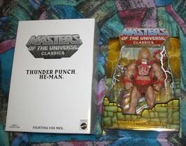 Thunder Punch He-Man MOTUC Masters of the Universe Classics MOSC MOC Ske... - $82.00