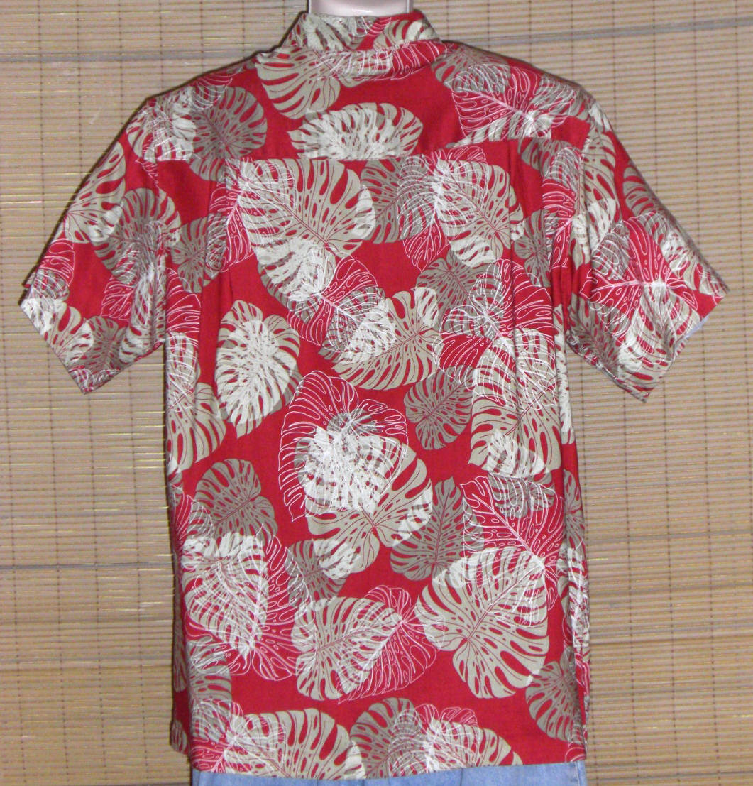 Ron Chereskin Hawaiian Shirt Red Large