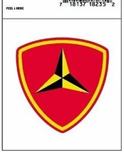 MARINE CORPS 3RD MARINE DIVISION MILITARY WAR DECAL - $13.53