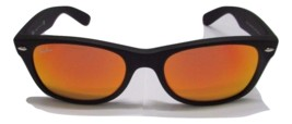 Ray-Ban Sunglasses 2132 622/69 Orange Flash Matte Black Wayfarer NEW & O... - £69.58 GBP