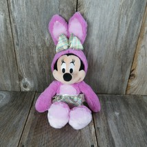 Minnie Mouse Easter Bunny Suit Plush Disney Pink Skirt Rabbit Stuffed An... - $19.79