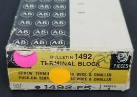 BOX OF 24 NEW ALLEN BRADLEY 1492-F5 TERMINAL BLOCKS 1492F5, SER. A image 2