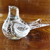 "Vintage Art Glass Dove Bird with Bubbles Figurine 5.5"" L - $29.65"