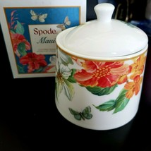 Spode Maui Tropical Butterfly Covered Sugar Bowl New  - $13.32