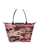 Longchamp Le Pliage Cavalcade Equestrian Burgundy Tote Bag Limited Edition - $197.99