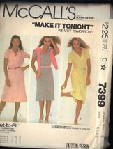 McCall's Pattern 7399 dated 1981 misses dress sizes 8/10 stretch knits only - $3.90