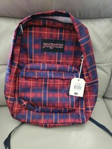 NWT Jansport Black Label Superbreak Backpack Neo Plaid Free Shipping! NEW - $29.21
