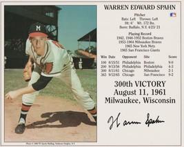 Warren Spahn (d. 2003) Signed Autographed Color HOF 8x10 Photo - Milwauk... - $49.99