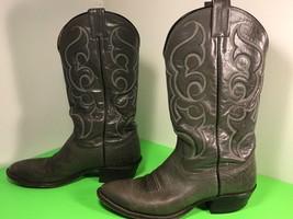 VINTAGE NOCONA TEXAS WESTERN COWBOY BOOTS SIZE 8 & 1/2 GRAY MENS EQUESTR... - $79.15