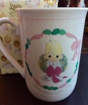 Precious Moments Surrounded With Joy Mug New in Box 1991 Enesco Christmas Gift - $12.86