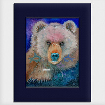 "Helen Simeonoff Native Alaskan Matted Art Print ""Beautiful Dreamer"" Grizzly - $19.00+"