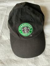 Starbucks Employee Uniform Adjustable Baseball Cap Hat Siren Logo Black ... - $19.79