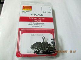 Micro-Trains Stock # 00302071 (1137) Coil Elliptic Trucks Short Extension (N) image 4