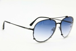 New Tom Ford Dickon Tf 527 01W Black Gradient Authentic Sunglasses TF527 61-14 - $481.23