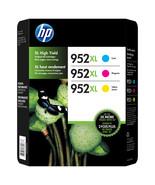 HP 952XL High-Yield Ink Cartridge 3-pk Cyan Magenta Yellow N9K30BN - $101.49