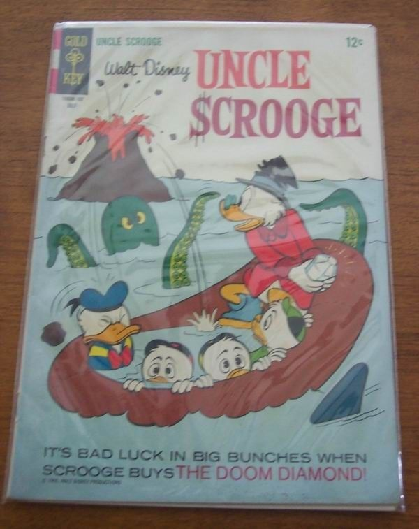 Primary image for WALT DISNEY UNCLE SCROOGE #70 GOLD KEY COMIC BOOK 1966