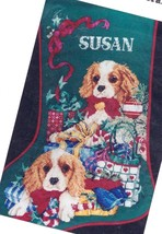 Janlynn Spaniel Puppies Cocker Springer Dogs Cross Stitch Stocking Kit 125-99 - $127.95