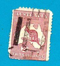 Used Australia Stamp (1913) 2 shilling Kangaroo & Map (Scott# 13)   - $14.99