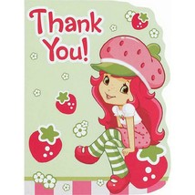 Strawberry Shortcake Thank You Cards 8 Per Package New - $3.91