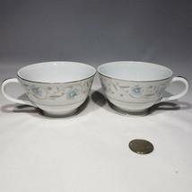 Lot of 2 English Garden Platinum Tea Cups Fine China Japan 1221 - $8.95