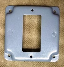 Cover 4in Square GFCI Receptacle Steel - $4.92