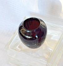 Vintage Zanesville Gloss Black Pottery Vase Stoneware Arts & Crafts - $18.49