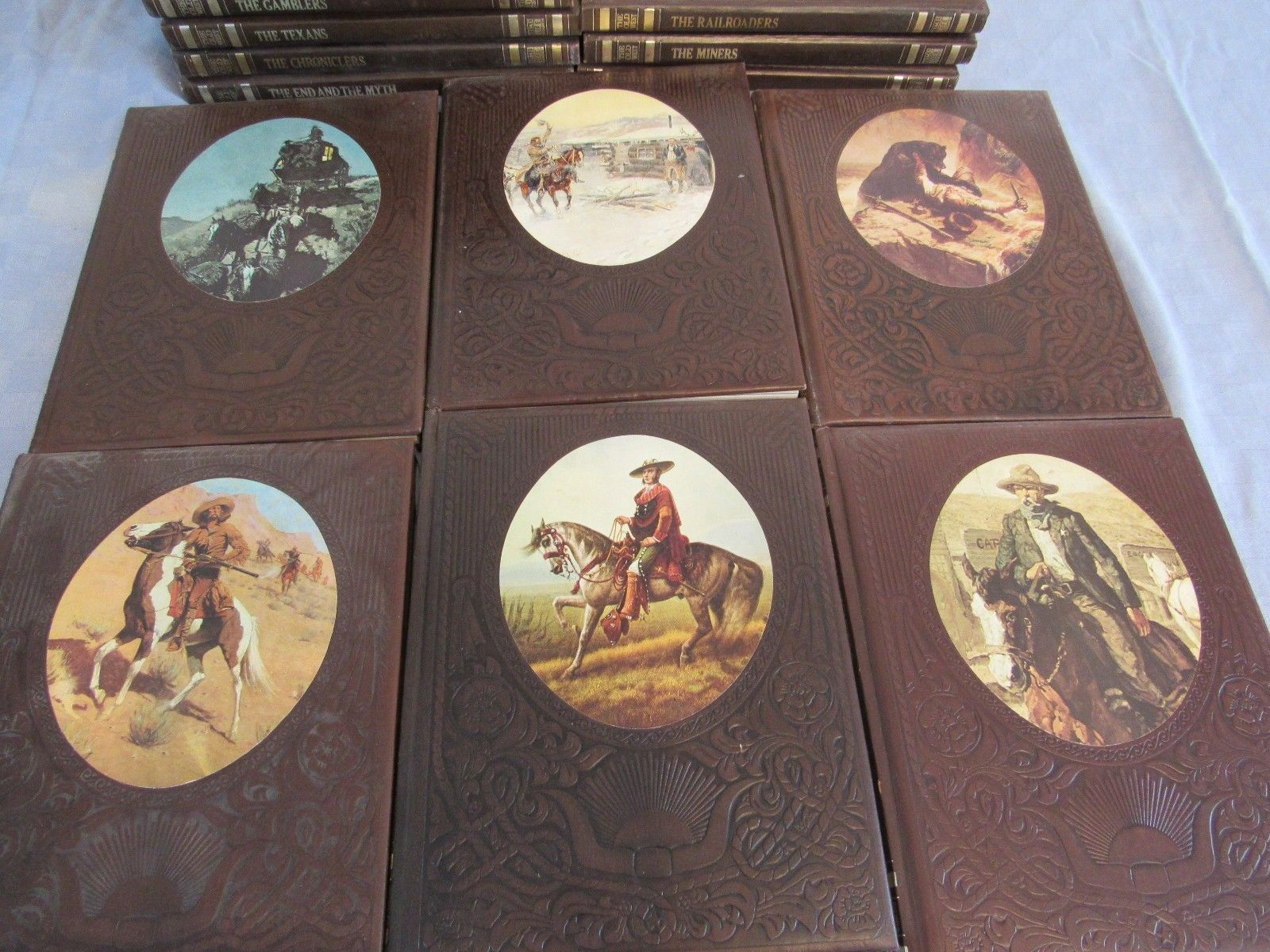 Time-Life Books The Old West Series 24 Volume Set Leatherette Covers