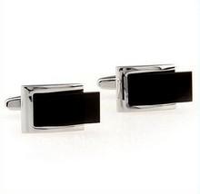Frederick Thomas argenté et noir rectangulaire BOUTONS DE MANCHETTES ft306 - $24.38