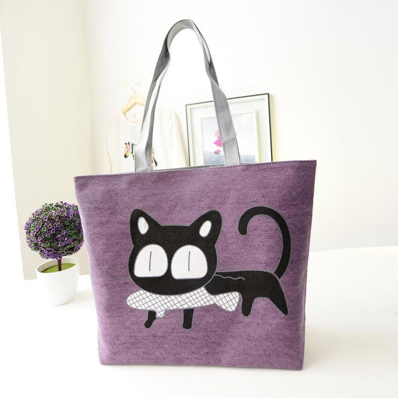 Beach bags Famous Cat Large Shoulder Tote image 5