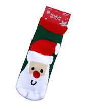 Set of 4 Christmas Theme Baby Socks Lovely Santa Claus Cotton Winter Baby Socks
