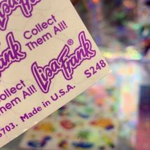Lisa Frank 90s Complete Sticker Sheet S248 Music Notes Neon Rainbow Fantasy Mint image 3