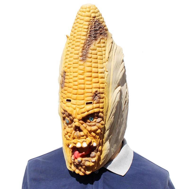 Angry Corn Halloween Mask Creepy Humoristic Funny Good Elasticity Horror Latex