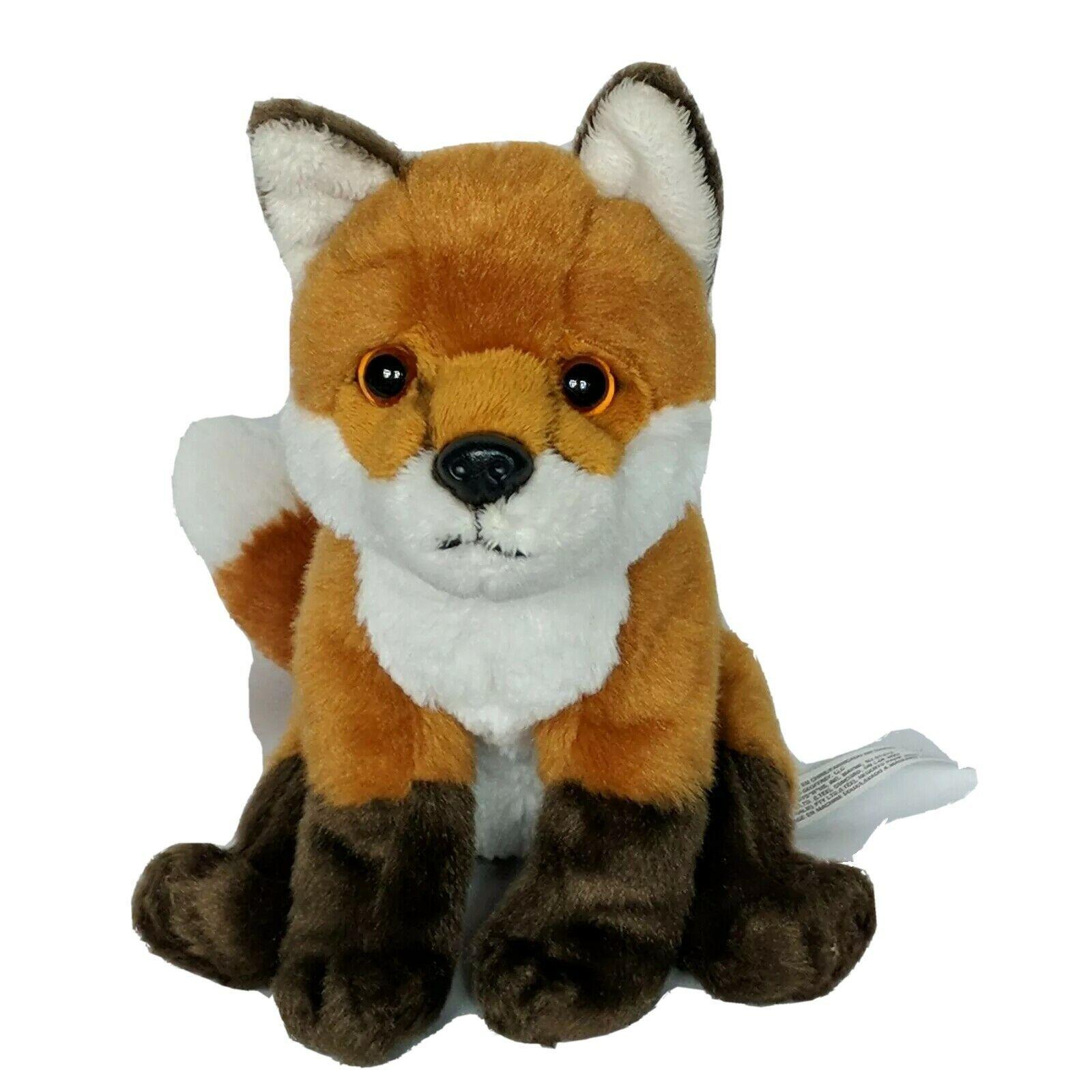 "Toys R Us Brown White Realistic Fox Plush Stuffed Animal 2015 8.25"" - $39.60"