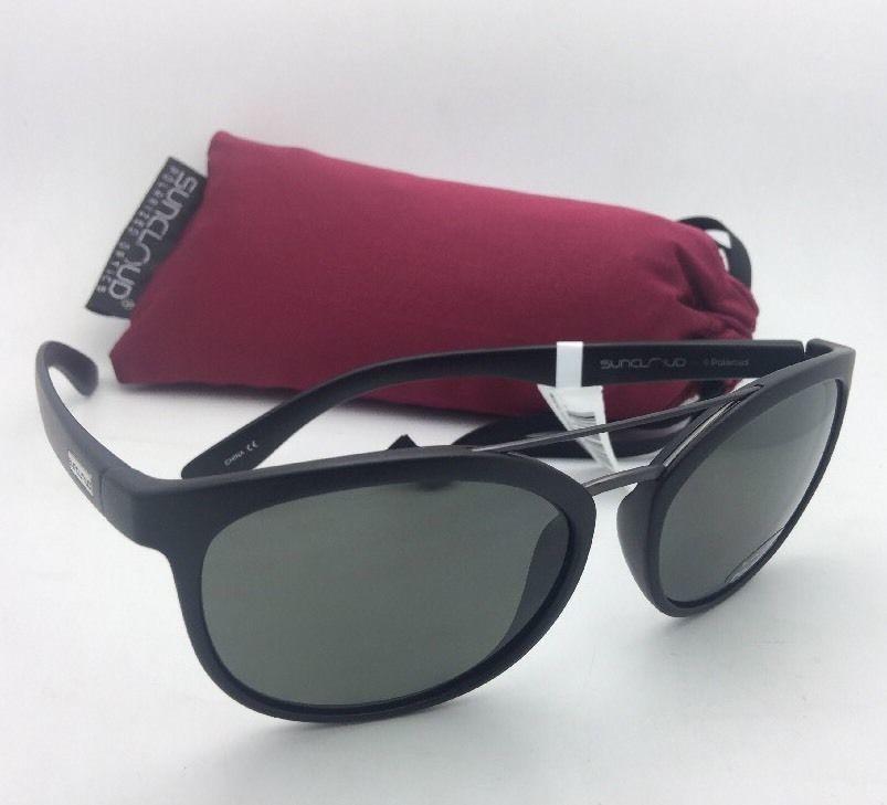 5000380f07 New SUNCLOUD POLARIZED OPTICS Sunglasses LIBERTY Matte Black Frame w Grey  Lenses