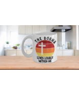 The Dogma Lives Loudly Within Me Mug Christian Catholic Conservative Crucifix Cr - £12.79 GBP - £14.21 GBP
