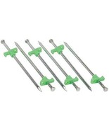 10 Inch Steel Tent Stakes 6 Pack  - $5.38