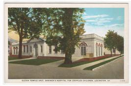 Shriners Hospital Crippled Children Oleika Temple Lexington Kentucky pos... - $6.44