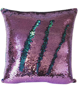 Livedeal Reversible Sequins Mermaid Pillow Cases 4040cm Purple and Blue - $9.78