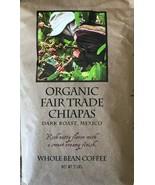 Fair Trade Chiapas - Organic Whole Bean Coffee - Dark Roast, Mexican - 2 LB - $29.74