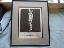 Fine Art Drawing Of Maasai Warrior Dance Signed Karanja - $39.47