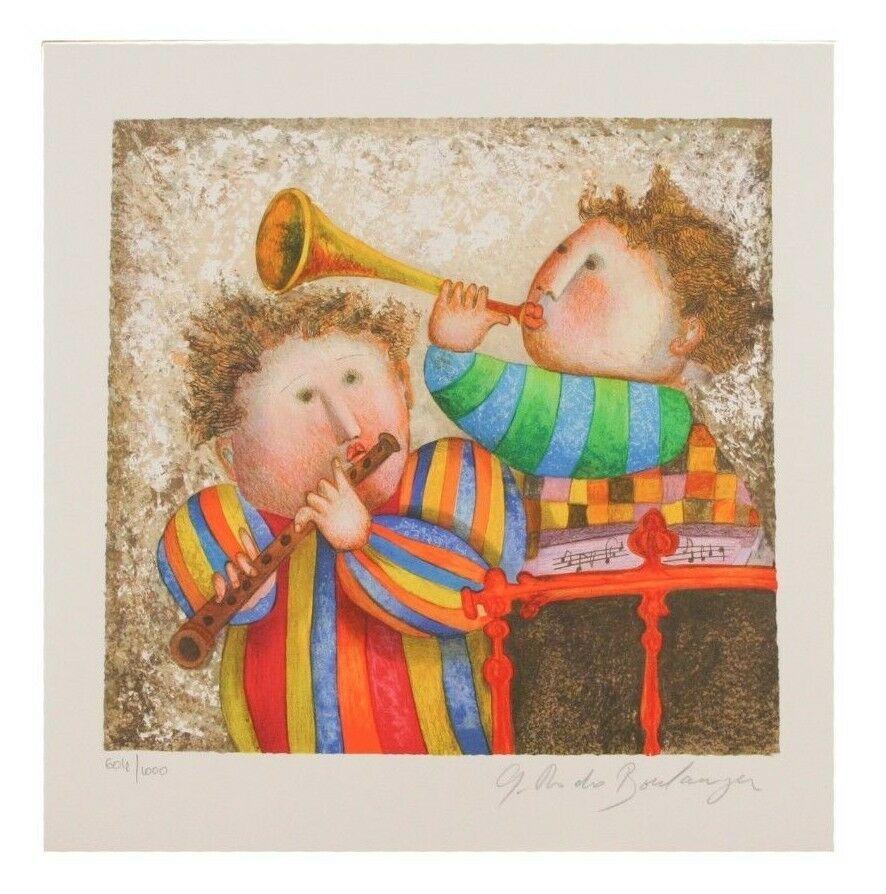 """"""" Musique pour les Yeux """" par Graciela Boulanger Lithographie sur Papier le de"""