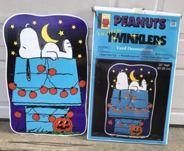 "Peanuts Snoopy Lighted Yard Decoration 32"" X 21"" Halloween Pumpkins - $74.79"