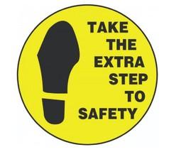 Step To Safety Hard Hat Decal Hardhat Sticker Helmet Label H165 - $1.79+