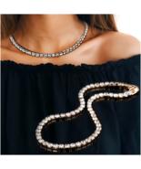 Womens Magnificent Round Cubic Zirconia Tennis Necklace Jewelry CZ Choke... - $17.90
