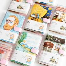 A5 Van Gogh Cute Leather Pocket Bullet Journal Planner Filofax Weekly Di... - $14.73