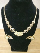 Sarah Coventry MONTE CARLO Rhinestone Necklace & Clip Earrings Set  Vintage  - $9.99