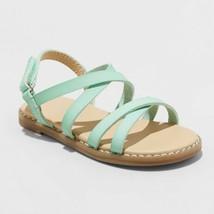 Toddler Girls' Darcie Slide Sandals - Cat & Jack Mint - $18.00
